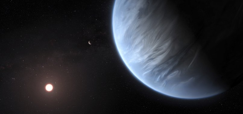 WATER DISCOVERED FOR FIRST TIME IN ATMOSPHERE OF HABITABLE EXOPLANET K2-18B