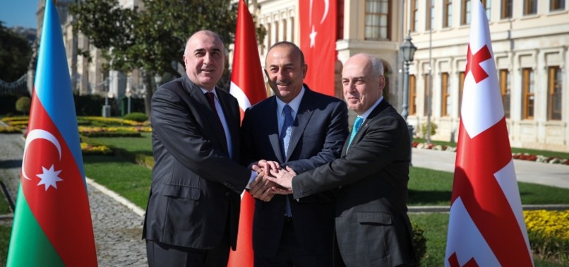 TURKEY, AZERBAIJAN, GEORGIA REITERATE COMMON WILL TO FURTHER DEVELOP COOPERATION IN VARIOUS FIELDS