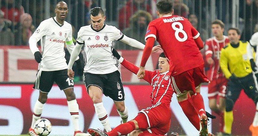 Beşiktaş, Bayern Münihe farklı yenildi