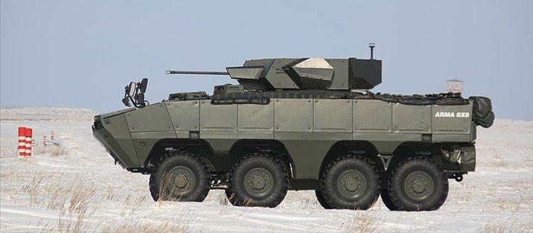 Kazakistan ordusu Türk yapımı zırhlı muharebe aracı Arma 8×8'i ve Nefer silah sistemini test etti