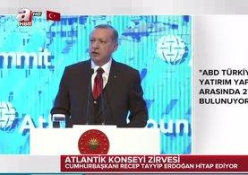 Cumhurbaşkanı Erdoğan Atlantik Konseyi İstanbul Zirvesi'nde konuşma yaptı