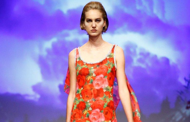 Richard Quinn İlkbahar/Yaz 2019 koleksiyonu Londra Moda Haftası'nda görücüye çıktı.