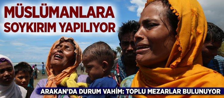 Arakan'da Müslümanlara soykırım yapılıyor
