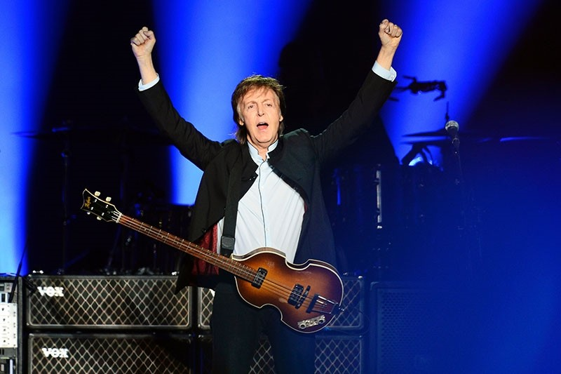 This file photo taken on May 30, 2016 shows British musician and former Beatles' member Paul McCartney performing on stage at the Bercy stadium in Paris. (AFP Photo)