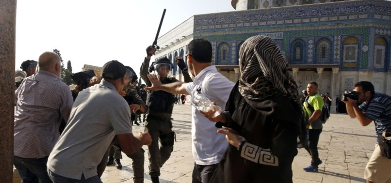ISRAELI SECURITY FORCES BAR PALESTINIAN WORSHIPPERS FROM PERFORMING FRIDAY PRAYERS AT AL-AQSA MOSQUE
