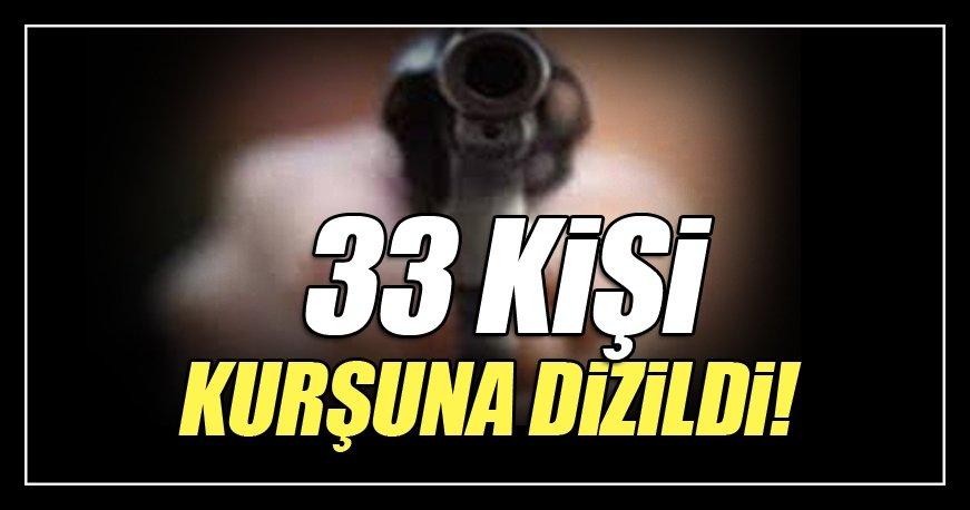 33 sivili kurşuna dizdiler