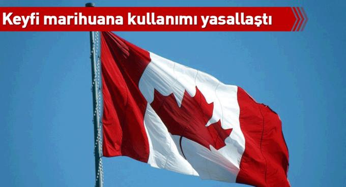 Kanadada keyfi marihuana kullanımı yasallaştı