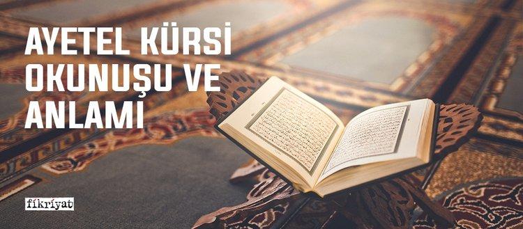 AyetelKürsiOkunuşuveAnlamı -AyetelKürsiDuası Türkçe Arapça Olarak Oku