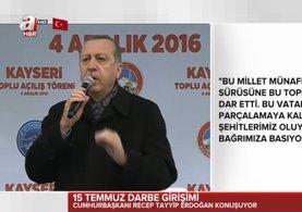 Erdoğan: Sizden şehitlerin hakkını alacağız!