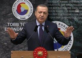 Cumhurbaşkanı Erdoğan TOBB Şurasında konuştu