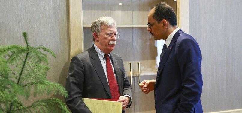 TURKEY'S PRESIDENTIAL AIDE, US'S BOLTON DISCUSS WAR-TORN SYRIA