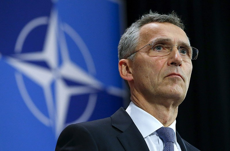 NATO Secretary-General Jens Stoltenberg holds a news conference during a meeting of the NATO foreign affairs ministers at the Alliance headquarters in Brussels in this December 1, 2015 file photo. (Reuters Photo)