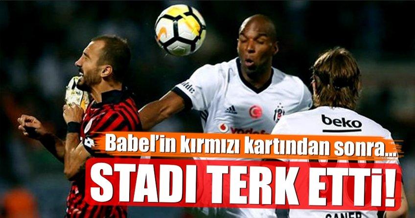 Başkan Orman, Babel'in kırmızı kartından sonra stadı terketti