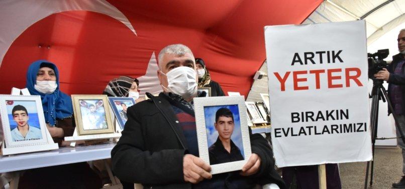 ONE MORE KURDISH FAMILY JOINS ANTI-PKK SIT-IN PROTEST IN SE TURKEY