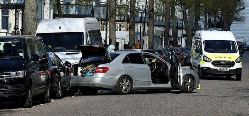 LONDON POLICE OPEN FIRE IN UKRAINE EMBASSY CAR CRASH