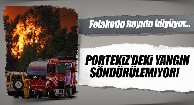 Portekizdeki yangın söndürülemiyor