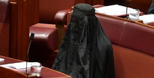 Anti-Muslim senator under fire for 'offensive' burqa stunt