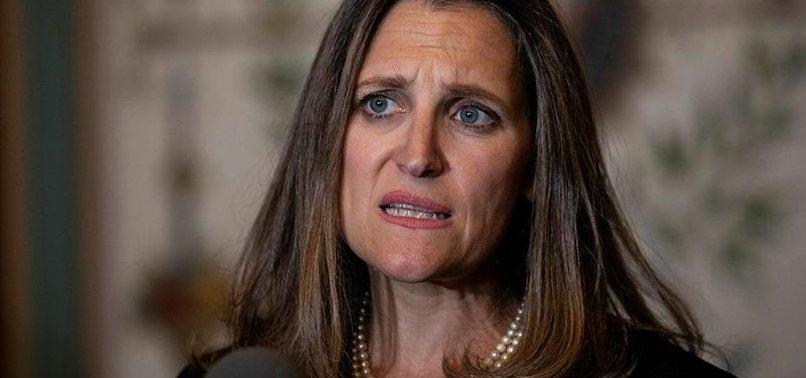 FREELAND GOES TO WASHINGTON TO DENOUNCE TARIFFS