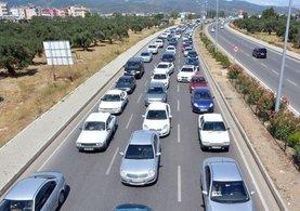 Yollarda bayram trafiği yoğunluğu hissedilmeye başladı