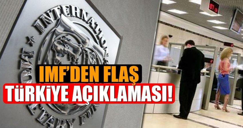 IMF'den flaş Türkiye açıklaması!
