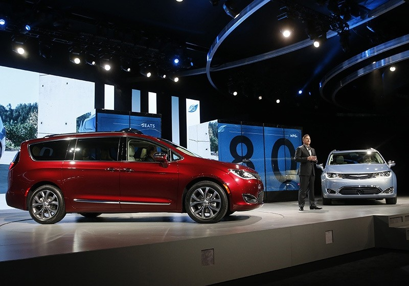 Timothy Kuniskis, Head of Passenger Car Brands - Dodge, SRT, Chrysler and FIAT, FCA - North America, speaks at the North American International Auto Show in Detroit. (Reuters Archive Photo)
