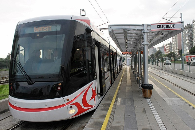 Domestically produced tramway starts operating in Samsun, northern Turkey in Nov. 2016. (DHA Photo)
