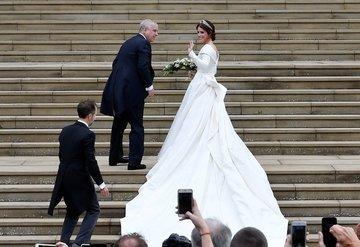 Prenses Eugenie'nin düğününe ünlü akını