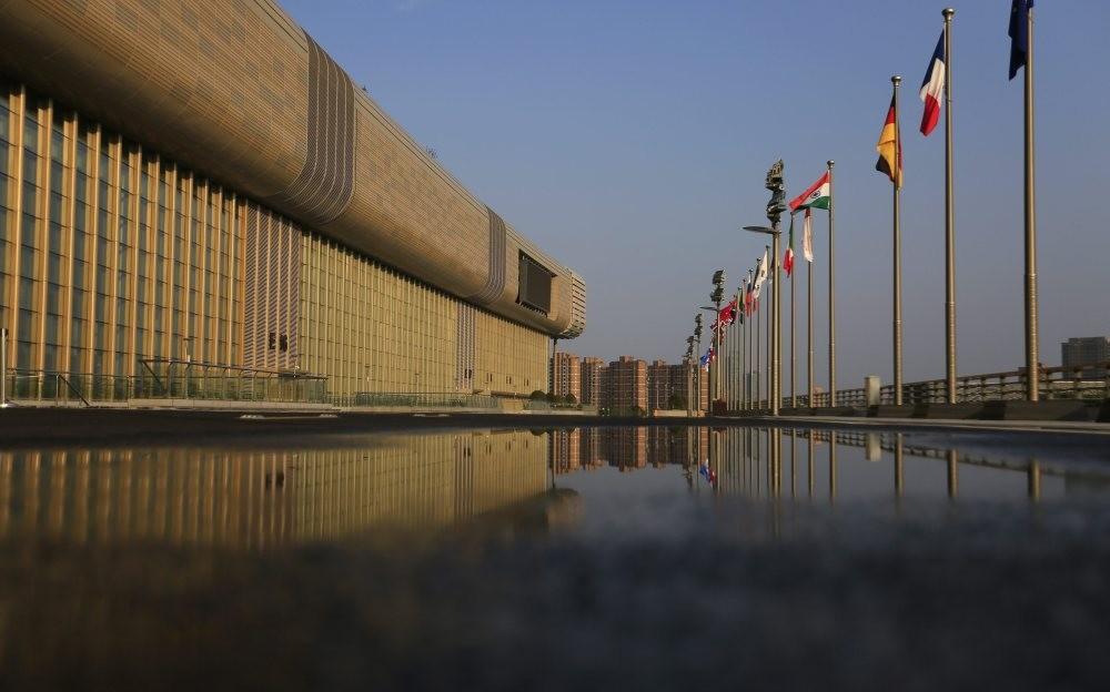 The Hangzhou International Expo Center, the main venue for the G20 summit in Hangzhou, China. (EPA Photo)