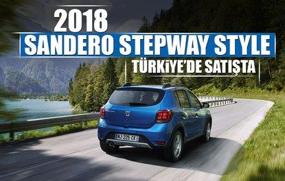 2018 SANDERO STEPWAY STYLE TÜRKİYE'DE SATIŞTA
