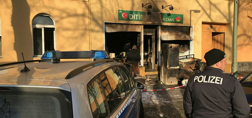 TURKISH MOSQUE SET ON FIRE IN ARSON ATTACK IN GERMANYS BERLIN
