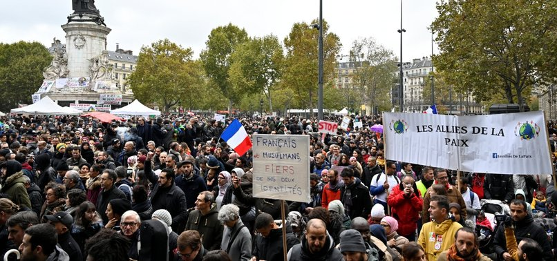 THOUSANDS OF PARISIANS MARCH AGAINST ISLAMOPHOBIA AFTER MOSQUE SHOOTING