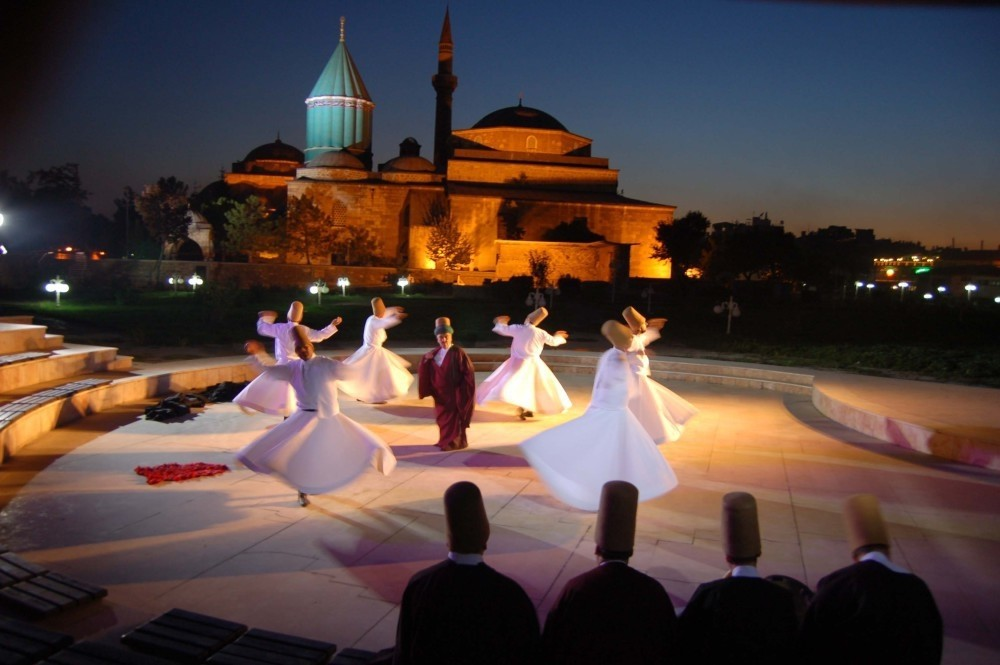 Whirling derwishes performance
