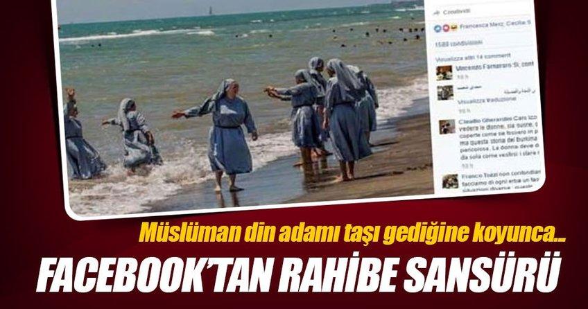 Facebook'tan Rahibe sansürü