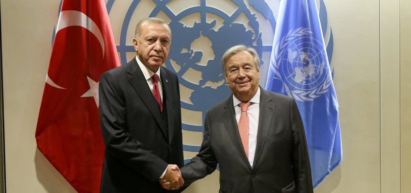 PRESIDENT ERDOĞAN MEETS UN CHIEF, LEADERS IN NEW YORK