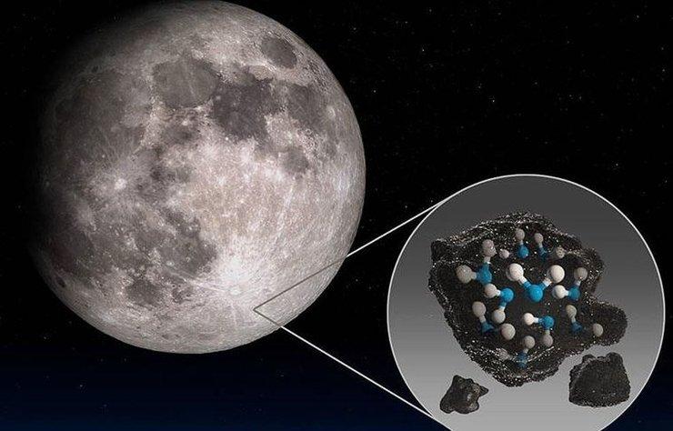 ABD Ulusal Havacılık ve Uzay Dairesi (NASA), ilk defa Ay'ın güneş gören yüzeyinde su bulduklarını açıkladı.