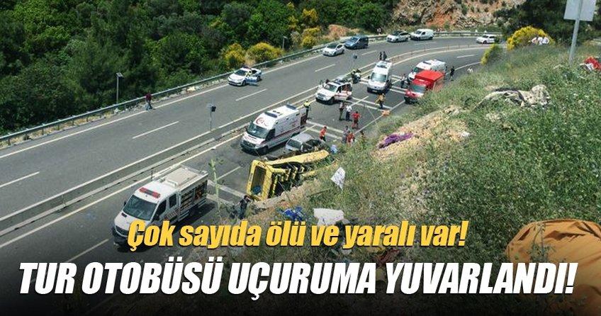 Muğla - Antalya yolunda tur otobüsü devrildi! Ölü ve yaralılar var