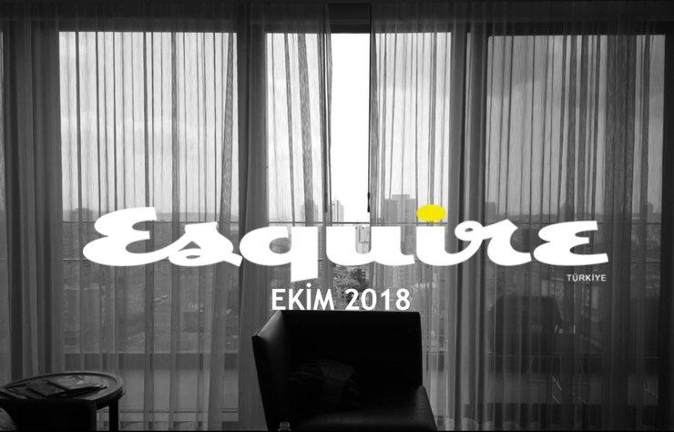 """""""Esquire Türkiye Ekim 2018 - Hayrettin backstage"""" haberi için..."""