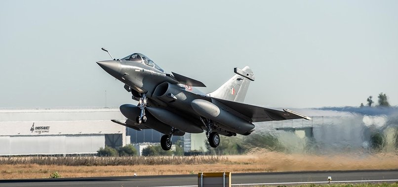GREECE RECEIVES 1ST FRENCH-MADE RAFALE FIGHTER JET