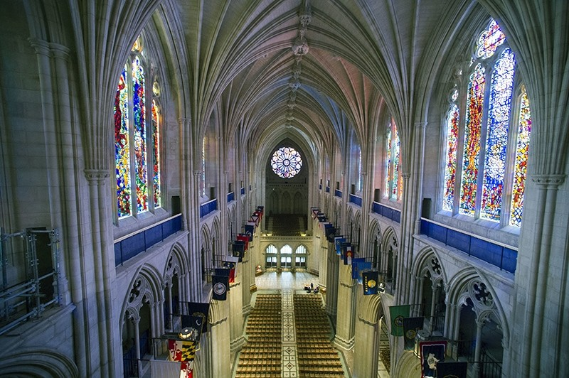 This Wednesday, Feb. 18, 2015 file photo shows the nave of the Washington National Cathedral in Washington (AP Photo)