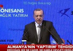 Cumhurbaşkanı Erdoğan'dan Almanya'ya sert uyarı