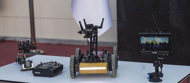 Lise öğrencileri bomba imha robotu yaptı