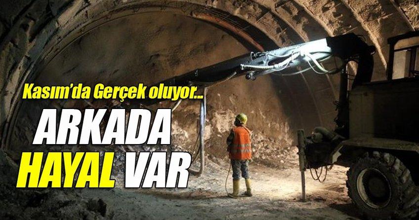 Ovit tüneli bitirilme aşamasında