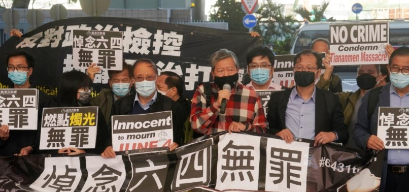 NINE HONG KONG ACTIVISTS GET 6-10 MONTHS IN PRISON FOR UNAUTHORISED TIANANMEN VIGIL