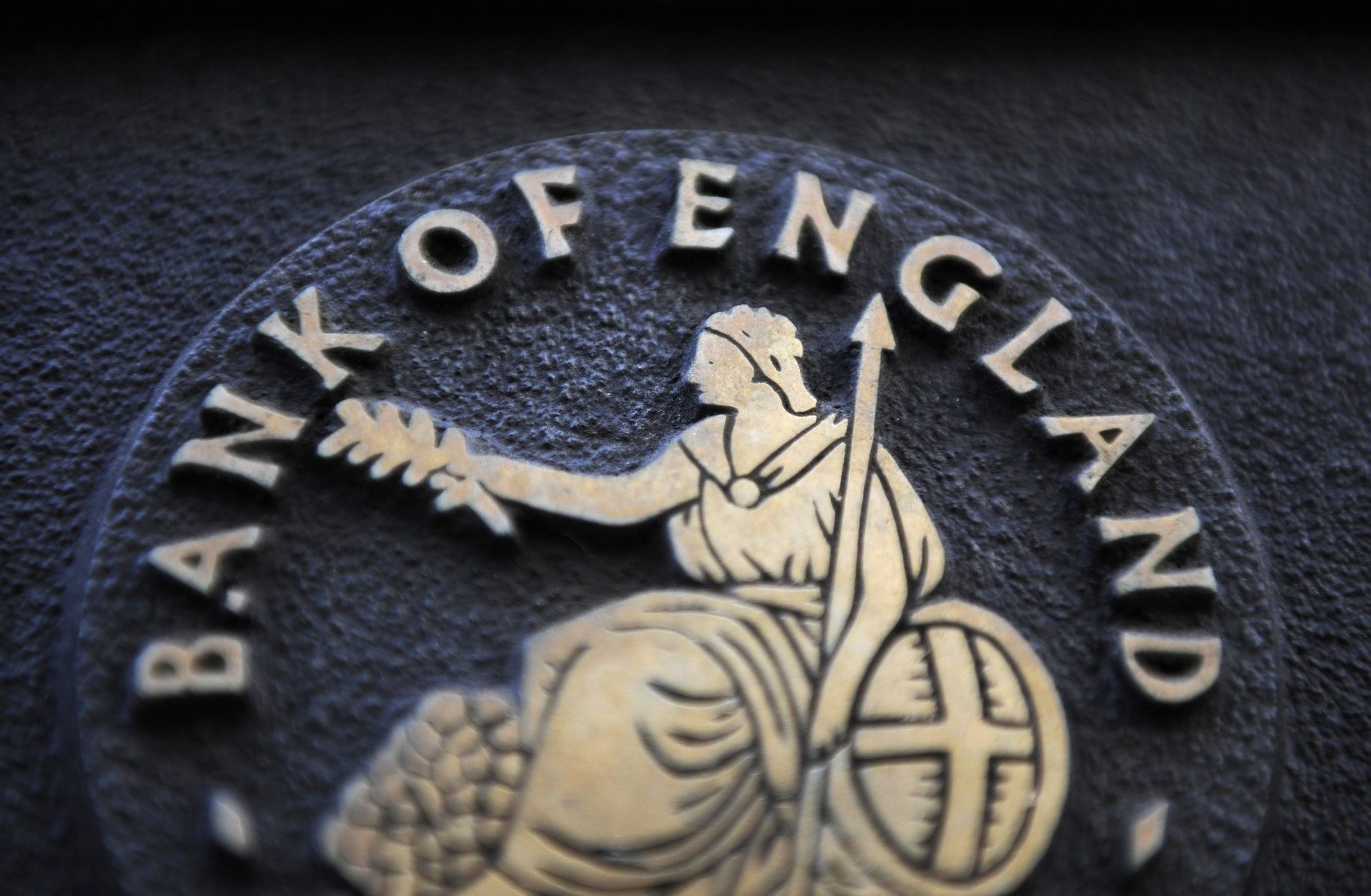 A file photo dated 22 January 2014 showing a Bank of England logo, London, Britain. The Bank of England on 04 September 2014 left interest rates at their historic low of 0.5 per cent. (EPA Photo)