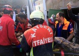Kayseri'de göçük meydana geldi:1 ölü 2 yaralı