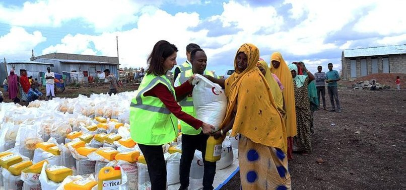 TURKISH AID AGENCY TIKA HANDS OUT FOOD AID TO NEEDIES IN ETHIOPIA