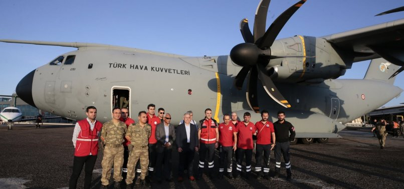 TURKISH PLANE TAKES OFF TO BRING WOUNDED FROM SOMALIA