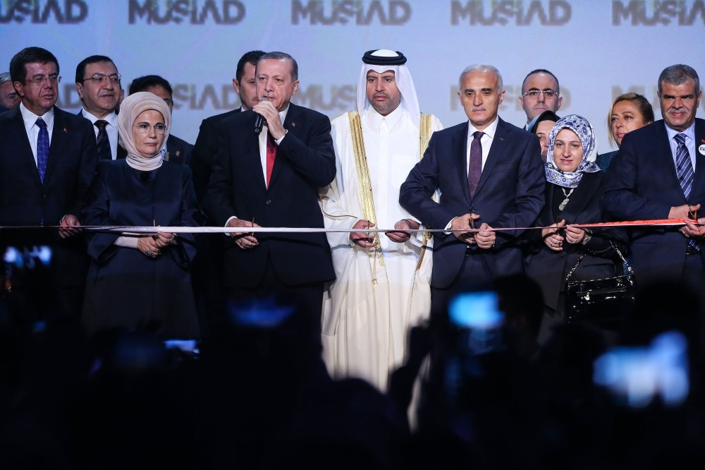 President Erdou011fan speaks during the openning ceremony of the 16th Mu00dcSu0130AD EXPO in Istanbul. The fair, which has attended by more than 200,000 visitors, ended on Saturday.