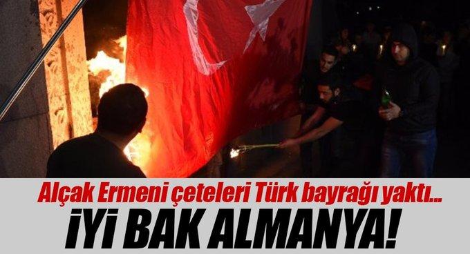 Ermenistanda Türk bayrağı yaktılar