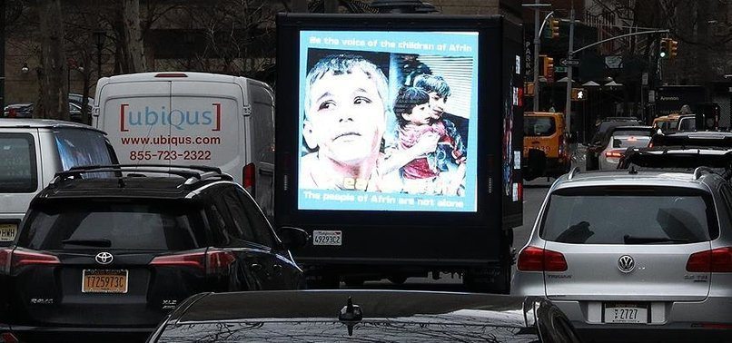 PYD/PKK SUPPORTERS IN NEW YORK MISREPRESENT IMAGE TO SMEAR TURKEYS ONGOING AFRIN OPERATION